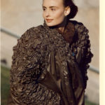 Quilted Crinkled Polished Cotton Coat 1990