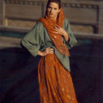Silk Chiffon Skirt & Cotton Chenille Hand-woven Sweater, Co-designed with Suzanne Squires,  1989